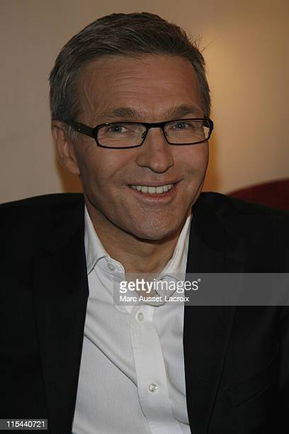 Laurent Ruquier attends the Evening 'Tous au Theatre' at Theatre Marigny Presented by Laurent Ruquier on November 3 2008 in Paris France