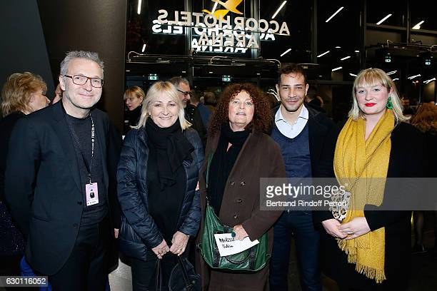 Laurent Ruquier Julier Leclerc Valerie Mairesse Steevy Boulay and daghter of Valerie Tina Mairesse attend Michael Gregorio performs for his 10 years...