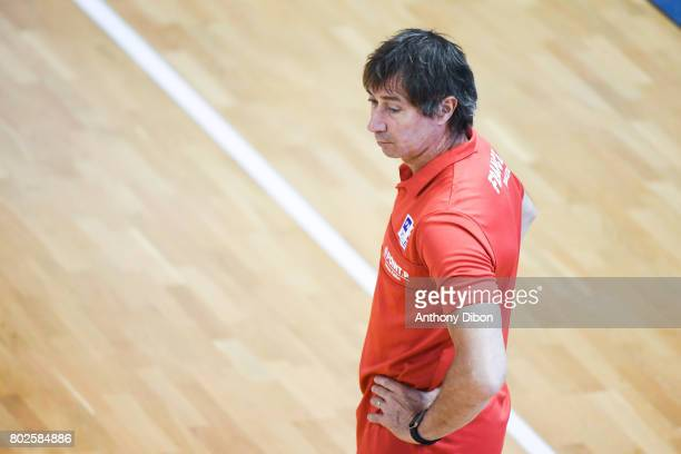 Laurent Tillie coach of France during a training session of the French volleyball national team on June 28 2017 in Vincennes France