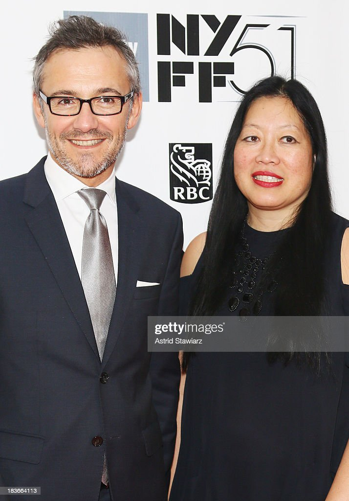 Laurent Vinay and NYFS Executive Director Rose Kuo attend the 'All Is Lost' premiere during the 51st New York Film Festival at Alice Tully Hall at Lincoln Center on October 8, 2013 in New York City.