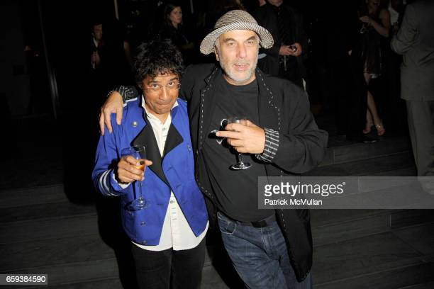 Laurent Voulzy and Ron Arad attend LINDA EVANGELISTA NOTIFY Party to Celebrate RON ARAD at MoMA at The Modern Museum of Art on September 15 2009 in...