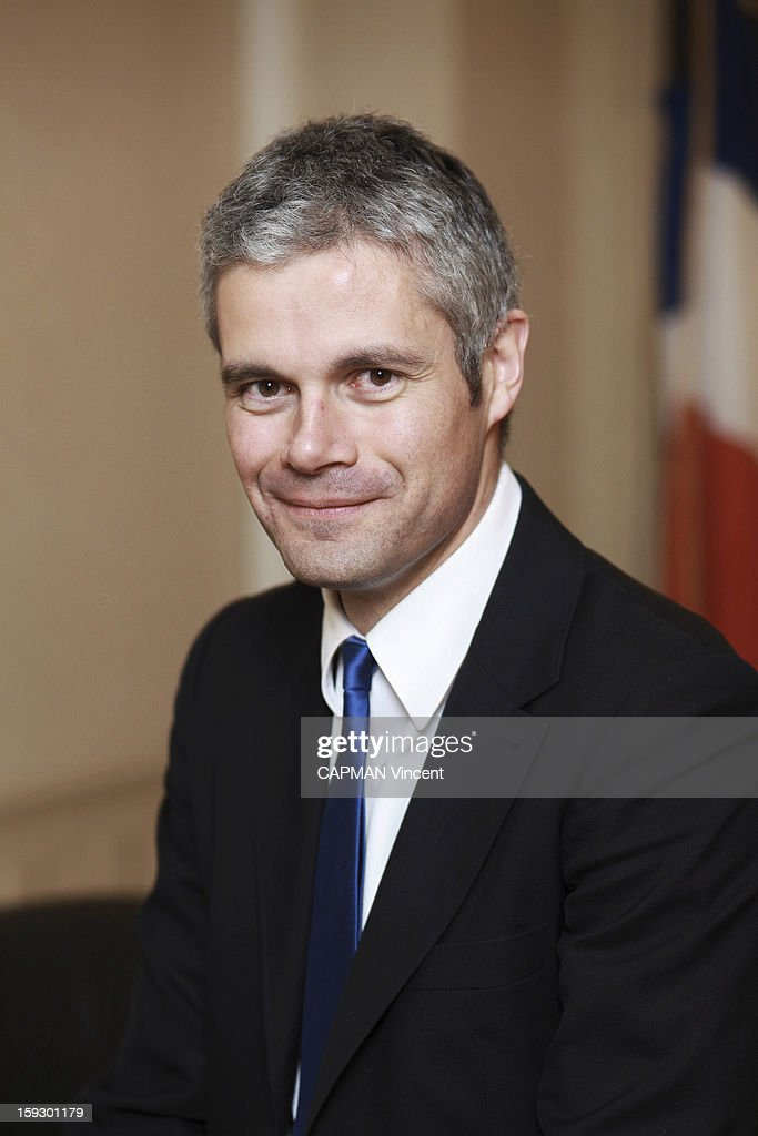 <a gi-track='captionPersonalityLinkClicked' href=/galleries/search?phrase=Laurent+Wauquiez&family=editorial&specificpeople=4207537 ng-click='$event.stopPropagation()'>Laurent Wauquiez</a> minister of Higher Education of the Sarkozy government poses at his office of the minister on January 17, 2012 in Paris,France.