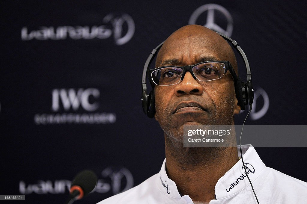 Laureus Academy Chairman <a gi-track='captionPersonalityLinkClicked' href=/galleries/search?phrase=Edwin+Moses+-+Track+And+Field+Athlete&family=editorial&specificpeople=206882 ng-click='$event.stopPropagation()'>Edwin Moses</a> attends the Sport and Development in Rio De Janerio Press Conference during the 2013 Laureus World Sports Awards on March 10, 2013 in Rio de Janeiro, Brazil.