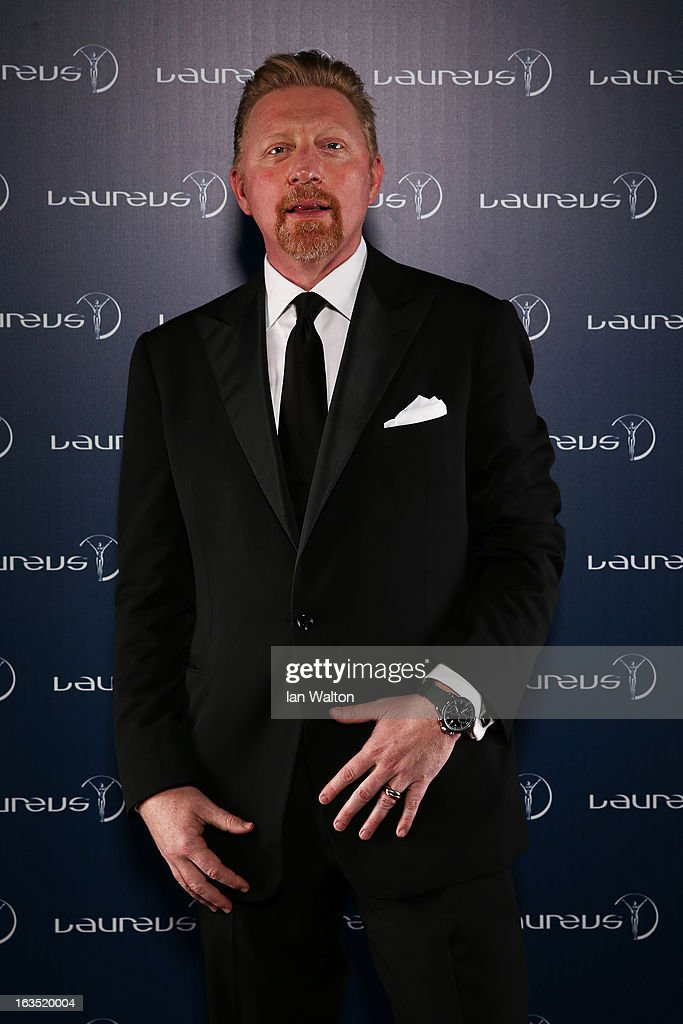Laureus Academy Member <a gi-track='captionPersonalityLinkClicked' href=/galleries/search?phrase=Boris+Becker&family=editorial&specificpeople=67204 ng-click='$event.stopPropagation()'>Boris Becker</a> poses in the winners studio during the 2013 Laureus World Sports Awards at Theatro Municipal do Rio de Janeiro on March 11, 2013 in Rio de Janeiro, Brazil.