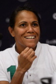 Laureus Academy Member Cathy Freeman attends the Women In Sport Press Conference at the Windsor Atlantica during the 2013 Laureus World Sports Awards...