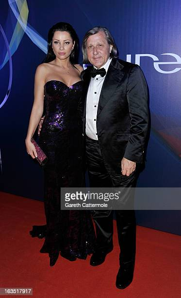 Laureus Academy Member Ilie Nastase and guest attend the 2013 Laureus World Sports Awards at the Theatro Municipal Do Rio de Janeiro on March 11 2013...