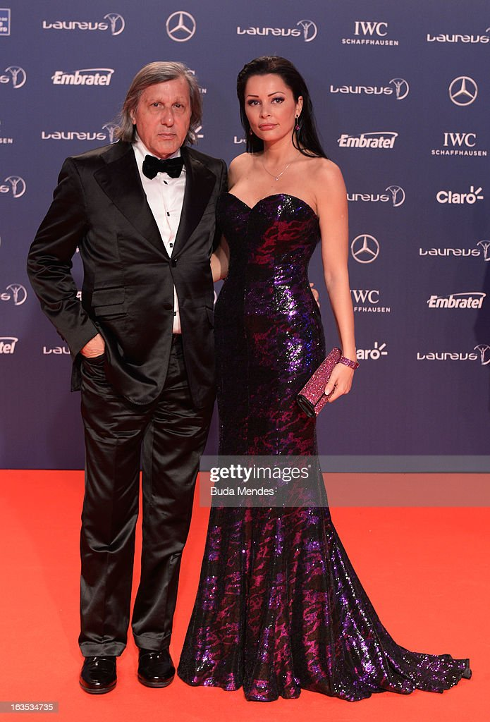 Laureus Academy Member <a gi-track='captionPersonalityLinkClicked' href=/galleries/search?phrase=Ilie+Nastase&family=editorial&specificpeople=215468 ng-click='$event.stopPropagation()'>Ilie Nastase</a> and guest attends the 2013 Laureus World Sports Awards at the Theatro Municipal Do Rio de Janeiro on March 11, 2013 in Rio de Janeiro, Brazil.