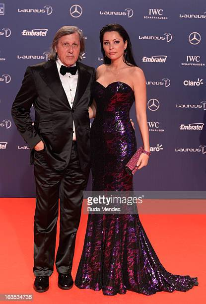 Laureus Academy Member Ilie Nastase and guest attends the 2013 Laureus World Sports Awards at the Theatro Municipal Do Rio de Janeiro on March 11...
