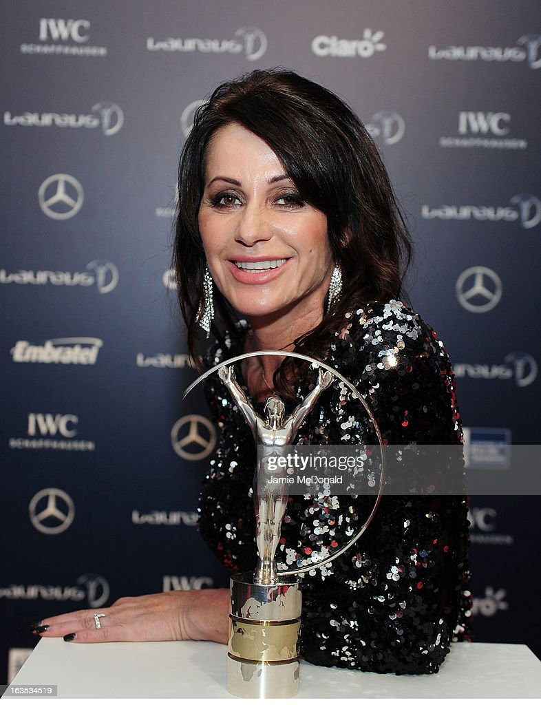 Laureus Academy Member Nadia Comaneci attends the 2013 Laureus World Sports Awards at the Theatro Municipal Do Rio de Janeiro on March 11, 2013 in Rio de Janeiro, Brazil.