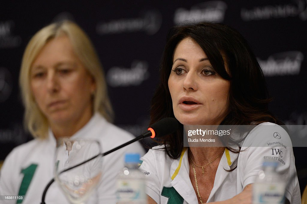 Laureus Academy Member Nadia Comaneci attends the Women In Sport Press Conference at the Windsor Atlantica during the 2013 Laureus World Sports Awards on March 11, 2013 in Rio de Janeiro, Brazil.