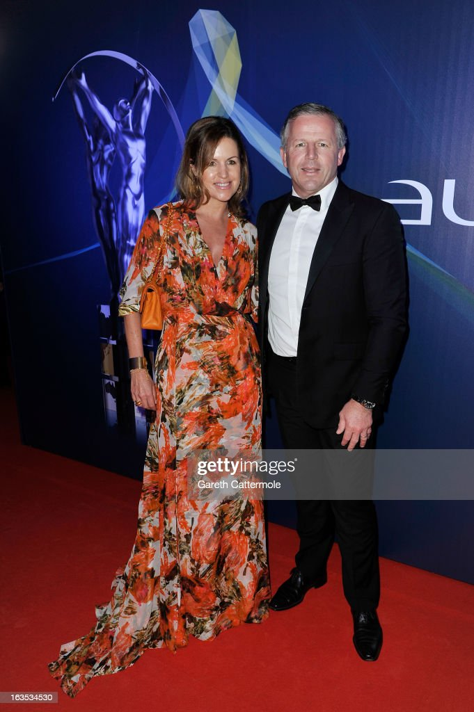 Laureus Academy Member Sean Fitzpatrick and guest attends the 2013 Laureus World Sports Awards at the Theatro Municipal Do Rio de Janeiro on March 11, 2013 in Rio de Janeiro, Brazil.