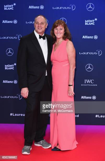Laureus Academy member Sir Steve Redgrave and guest attend the 2017 Laureus World Sports Awards at the Salle des EtoilesSporting Monte Carlo on...