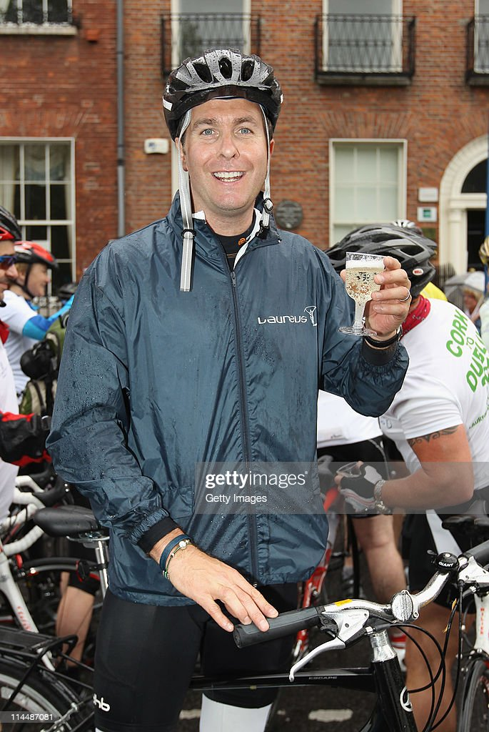 Laureus Ambassador and former England Asheswinning cricket captain Michael Vaughan supporting the Laureus St James place fundraising team on their...