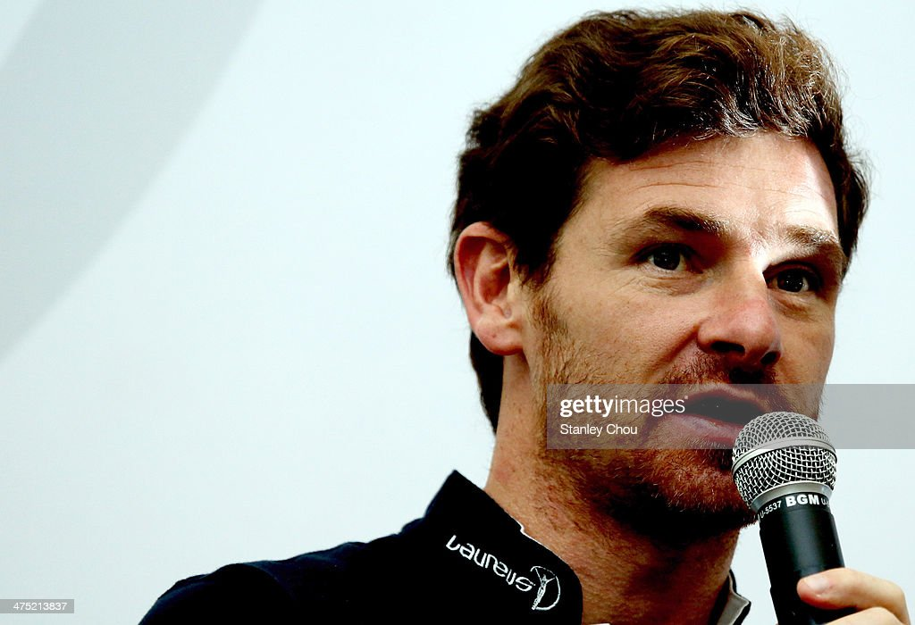 Laureus Ambassador Andre Villas Boas delivers his speech during the Laureus Sport For Good Foundation Foootball Project Visit at the UKM University, Bangi on February 27, 2014 in Kuala Lumpur, Malaysia.