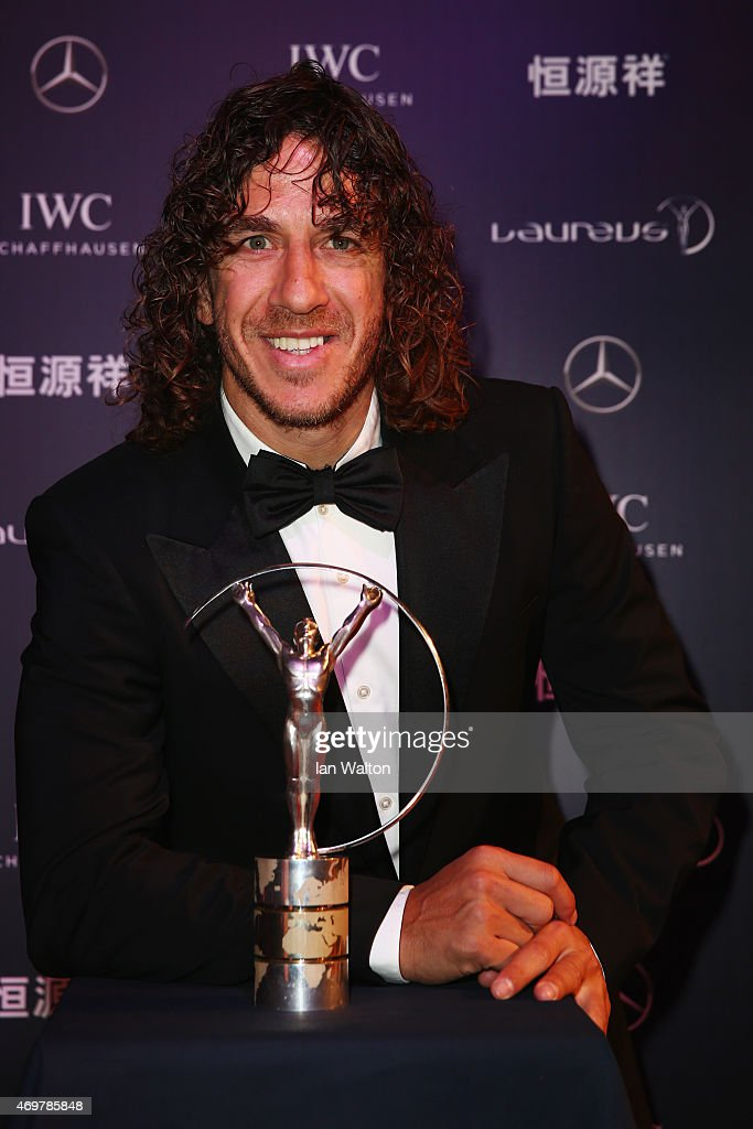 Laureus Ambassador Carles Puyol attends the 2015 Laureus World Sports Awards at Shanghai Grand Theatre on April 15, 2015 in Shanghai, China.
