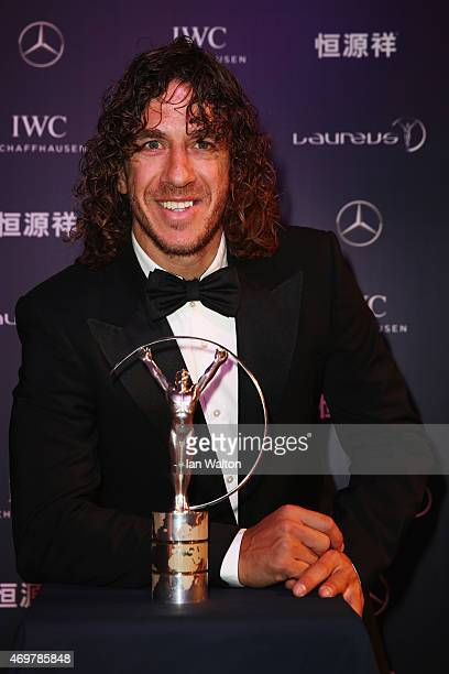 Laureus Ambassador Carles Puyol attends the 2015 Laureus World Sports Awards at Shanghai Grand Theatre on April 15 2015 in Shanghai China
