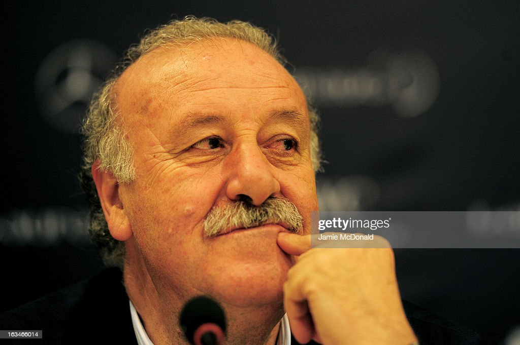 Laureus Ambassador Vicente Del Bosque attends the Football press conference at the Windsor Atlantic during day 2 of the 2013 Laureus World Sports Awards on March 10, 2013 in Rio de Janeiro, Brazil.