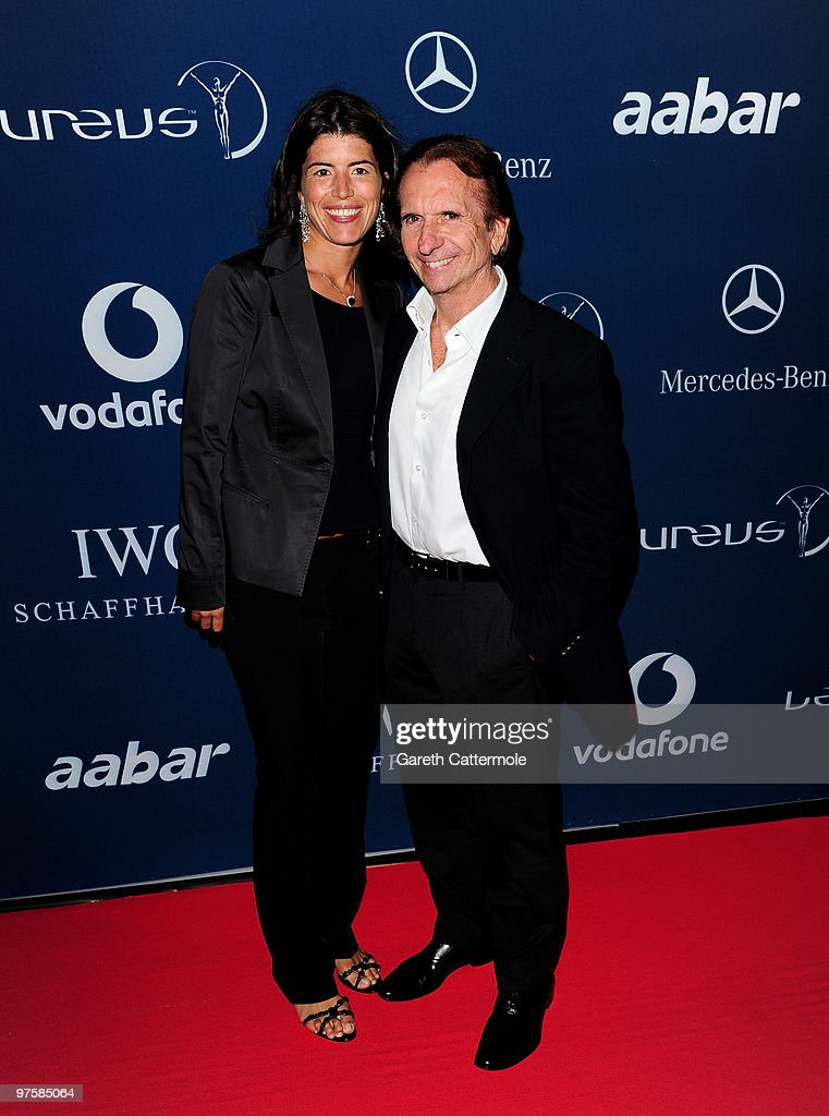 Laureus Sports Academy member Emerson Fittipaldi and guest attend the Laureus Welcome Party part of the Laureus Sports Awards 2010 at the Fairmount Hotel on March 9, 2010 in Abu Dhabi, United Arab Emirates.