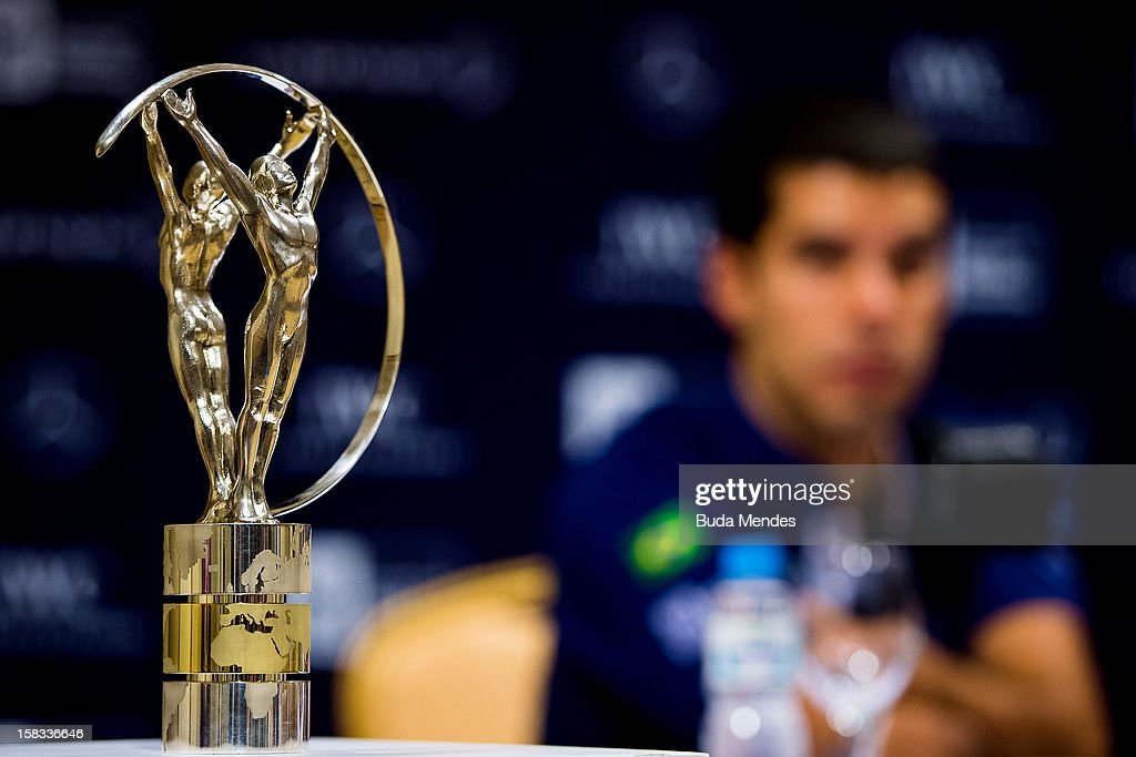 Laureus Statuette during a press conference to announce the Nominees for the 2012 Laureus World Sports Awards at Windsor Atlantica Hotel on December 13, 2012 in Rio De Janeiro, Brazil. The Laureus World Sports Awards is recognised as the premier honours event in the international sporting calendar as stars of the sporting world come together to salute the finest sportsmen and sportswomen of the year.