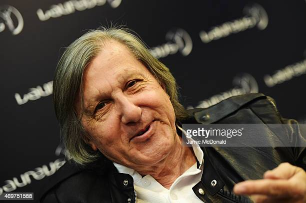 Laureus World Sports Academy member Ilie Nastase during a media interview at the Shanghai Grand Theatre prior to the 2015 Laureus World Sports Awards...