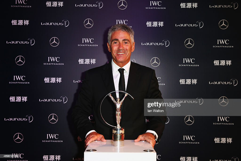Laureus World Sports Academy member <a gi-track='captionPersonalityLinkClicked' href=/galleries/search?phrase=Mick+Doohan&family=editorial&specificpeople=604096 ng-click='$event.stopPropagation()'>Mick Doohan</a> attends the 2015 Laureus World Sports Awards at Shanghai Grand Theatre on April 15, 2015 in Shanghai, China.