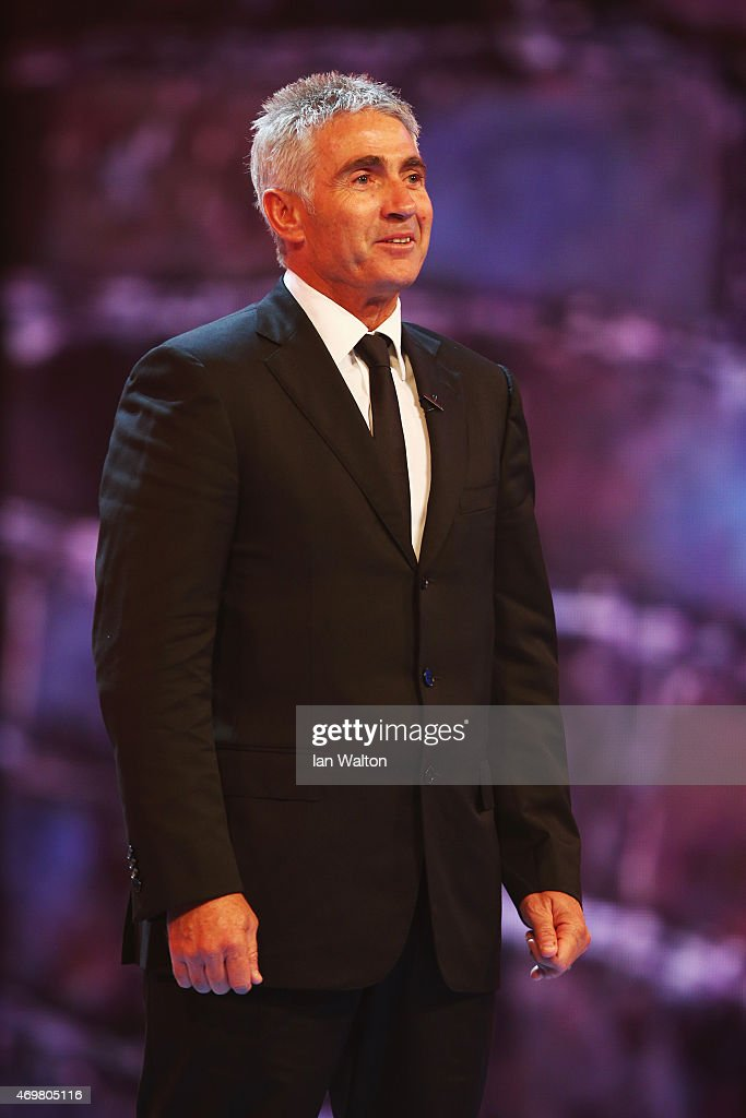 Laureus World Sports Academy member <a gi-track='captionPersonalityLinkClicked' href=/galleries/search?phrase=Mick+Doohan&family=editorial&specificpeople=604096 ng-click='$event.stopPropagation()'>Mick Doohan</a> onstage during the 2015 Laureus World Sports Awards show at the Shanghai Grand Theatre on April 15, 2015 in Shanghai, China.
