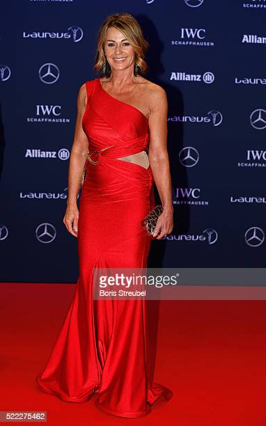 Laureus World Sports Academy member Nadia Comaneci attends the 2016 Laureus World Sports Awards at Messe Berlin on April 18 2016 in Berlin Germany