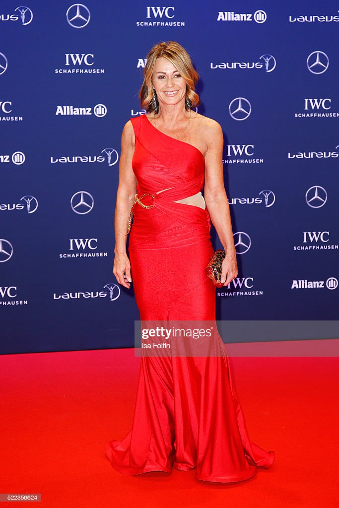 Laureus World Sports Academy member Nadia Comaneci attends the Laureus World Sports Awards 2016 on April 18, 2016 in Berlin, Germany.