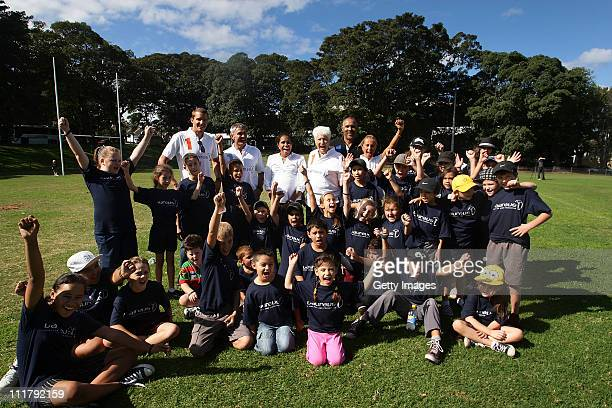 Laureus World Sports Academy Members Mick Doohan Cathy Freeman Dawn Fraser and Daley Thompson and Olympic triathlon champions Jan Frodeno and Emma...