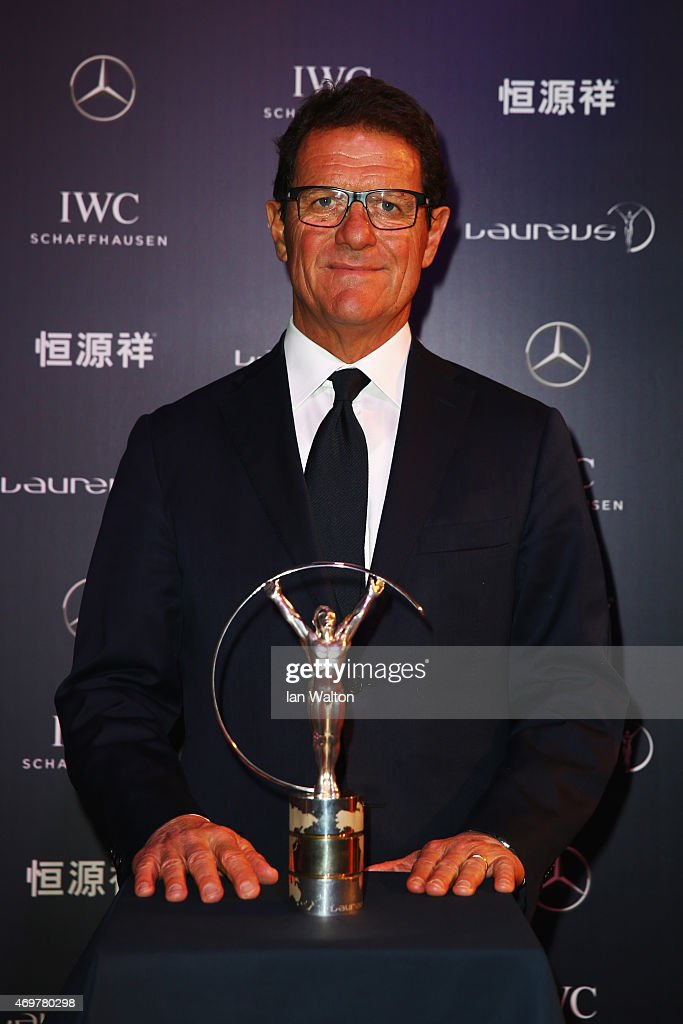 Laureus World Sports Ambassador <a gi-track='captionPersonalityLinkClicked' href=/galleries/search?phrase=Fabio+Capello&family=editorial&specificpeople=241290 ng-click='$event.stopPropagation()'>Fabio Capello</a> attends the 2015 Laureus World Sports Awards at Shanghai Grand Theatre on April 15, 2015 in Shanghai, China.