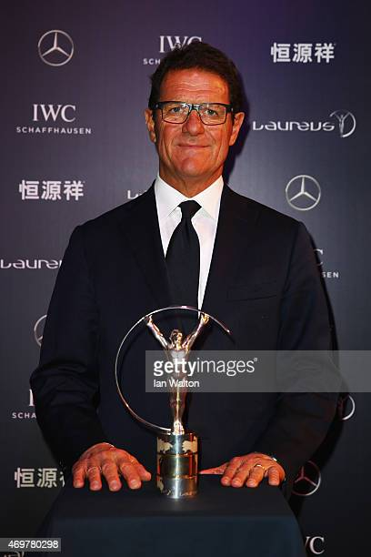 Laureus World Sports Ambassador Fabio Capello attends the 2015 Laureus World Sports Awards at Shanghai Grand Theatre on April 15 2015 in Shanghai...
