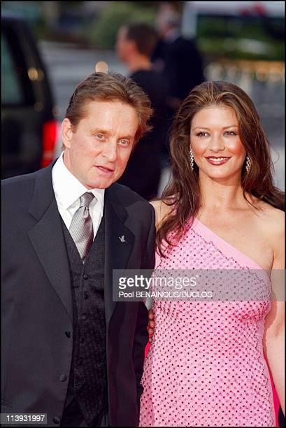 Laureus World Sports Awards ceremony In Monaco City Monaco On May 14 2002Michael Douglas with his wife Catherine Zeta Jones