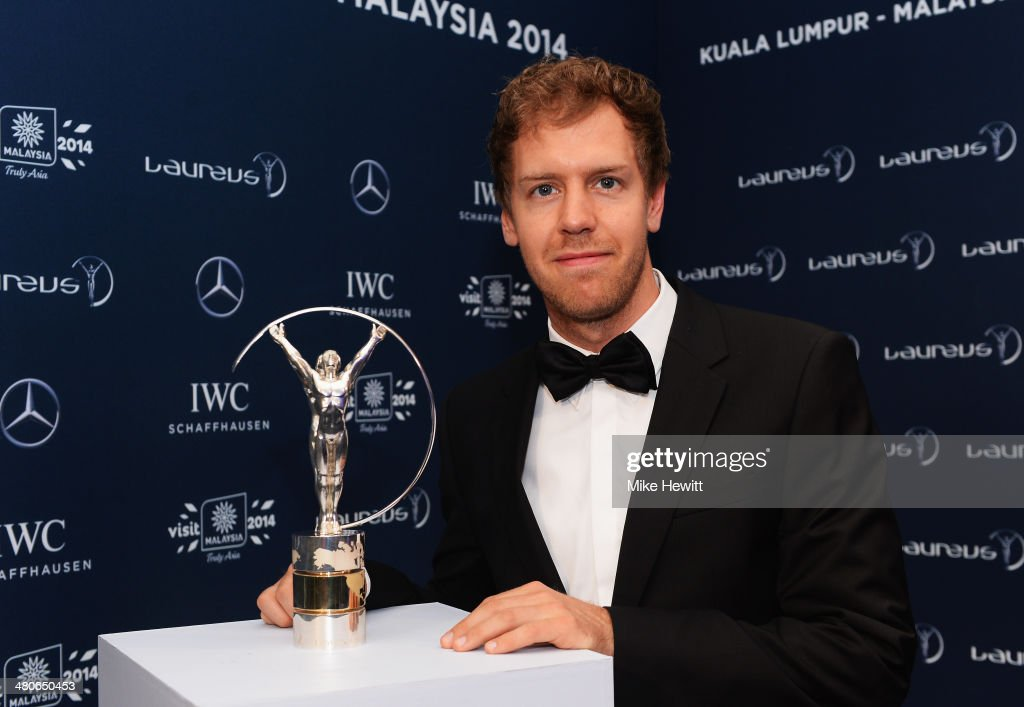 Laureus World Sportsman of the Year nominee and motor racing driver <a gi-track='captionPersonalityLinkClicked' href=/galleries/search?phrase=Sebastian+Vettel&family=editorial&specificpeople=2233605 ng-click='$event.stopPropagation()'>Sebastian Vettel</a> attends the 2014 Laureus World Sports Awards at the Istana Budaya Theatre on March 26, 2014 in Kuala Lumpur, Malaysia.