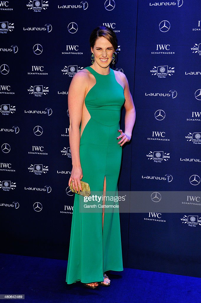 Laureus World Sportswoman of the Year nominee and swimmer <a gi-track='captionPersonalityLinkClicked' href=/galleries/search?phrase=Missy+Franklin&family=editorial&specificpeople=6623958 ng-click='$event.stopPropagation()'>Missy Franklin</a> attends the 2014 Laureus World Sports Awards at the Istana Budaya Theatre on March 26, 2014 in Kuala Lumpur, Malaysia.
