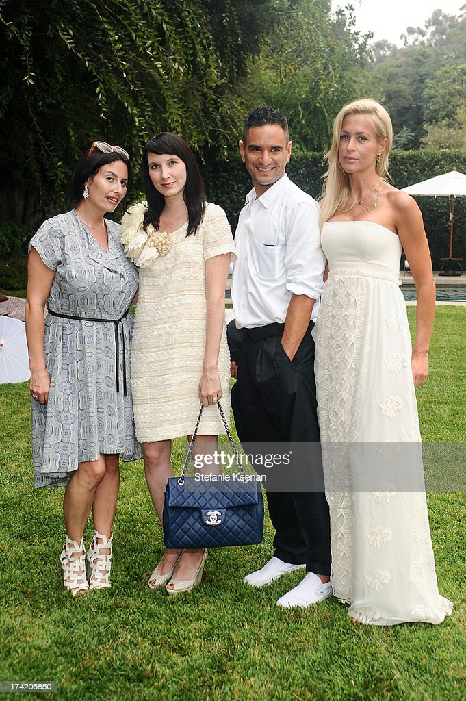 Lauri Firstenberg, Clea Shearer, Isaac Joseph and Kara Council attend LAXART 2013 Garden Party on July 21, 2013 in Los Angeles, California.