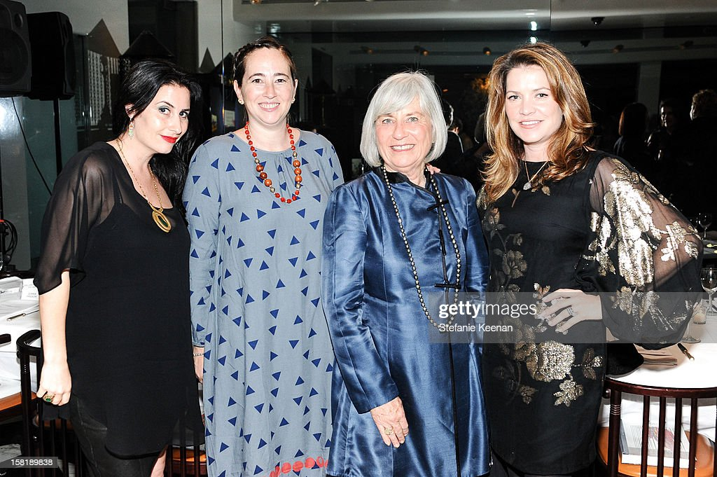 Lauri Firstenberg, Recebba Bloom, Ruth Bloom and Jennifer Hawks attend LAXART Vision dinner At Mr. Chow sponsored by Jay Carlile and Guess at Mr. Chow on December 10, 2012 in Los Angeles, California.