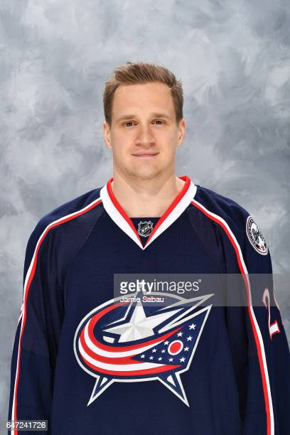 Lauri Korpikoski of the Columbus Blue Jackets poses for his headshot on March 2 2017 at Nationwide Arena in Columbus Ohio