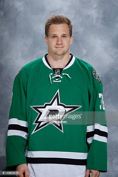 Lauri Korpikoski of the Dallas Stars poses for his official headshot prior to a game against the Anaheim Ducks at the American Airlines Center on...
