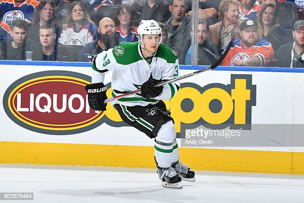 Lauri Korpikoski of the Dallas Stars skates during the game against the Edmonton Oilers on November 11 2016 at Rogers Place in Edmonton Alberta Canada