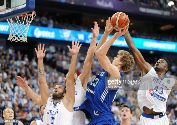 Lauri Markkanen of Finland Thanasis Antetokounmpo of Greece during the FIBA Eurobasket 2017 Group A match between Greece and Finland on September 5...