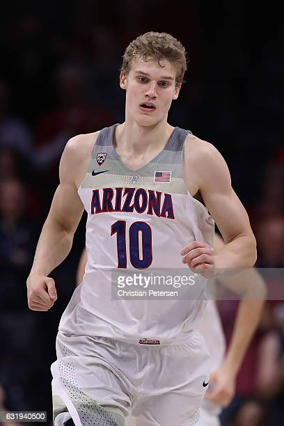 Lauri Markkanen of the Arizona Wildcats during the second half of the college basketball game against the Utah Utes at McKale Center on January 5...