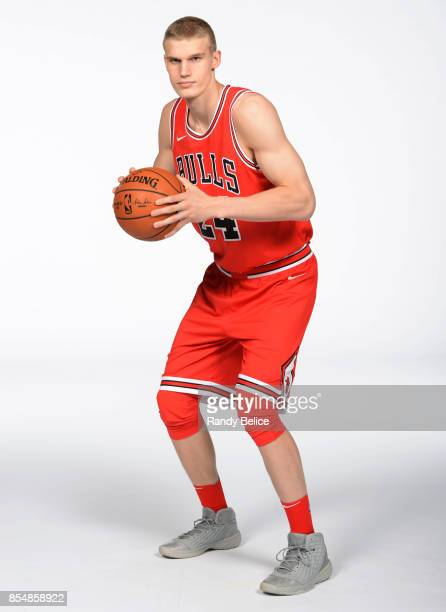 Lauri Markkanen of the Chicago Bulls poses for a portrait during the 201718 NBA Media Day on September 25 2017 at the United Center in Chicago...