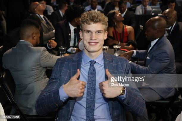Lauri Markkanen poses for a photo prior to the 2017 NBA Draft on June 22 2017 at Barclays Center in Brooklyn New York NOTE TO USER User expressly...