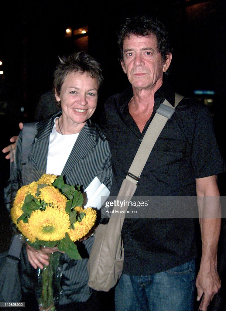 Laurie Anderson and Lou Reed during 2003 Howl! Festival - Lou Reed And Friends, FEVA Benefit Reading - New York City at Joe's Pub in New York, New York, United States.