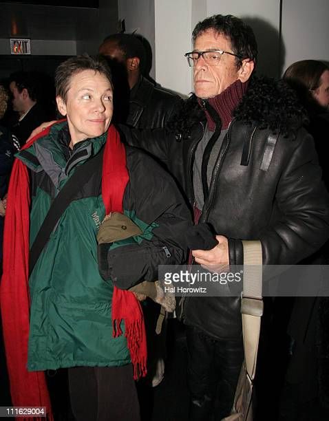 Laurie Anderson and Lou Reed during Pete Townshend of The Who and Rachel Fuller Hold Attic Jam Show at Joe's Pub February 20 2007 at Joe's Pub in New...