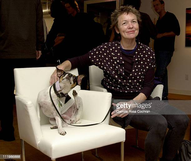 Laurie Anderson with Lolabelle during Interview and Adidas Host a Party for Lou Reed's Photo Book at Cooper Classics Collection in New York City New...