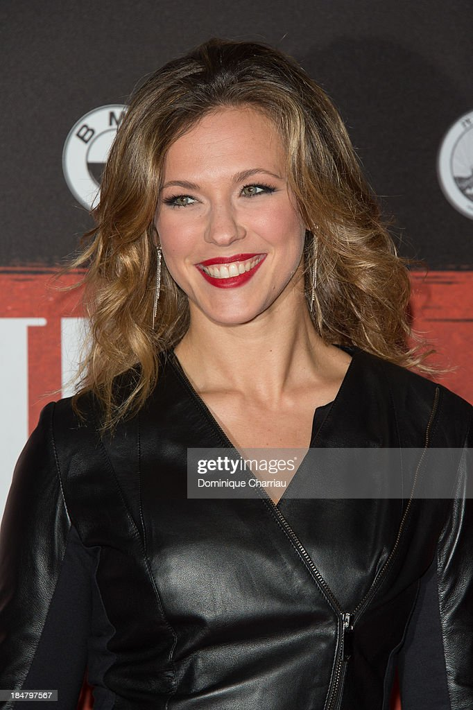 Laurie attends the 'Malavita' premiere at Europacorp Cinema on October 16, 2013 in Roissy-en-France, France.