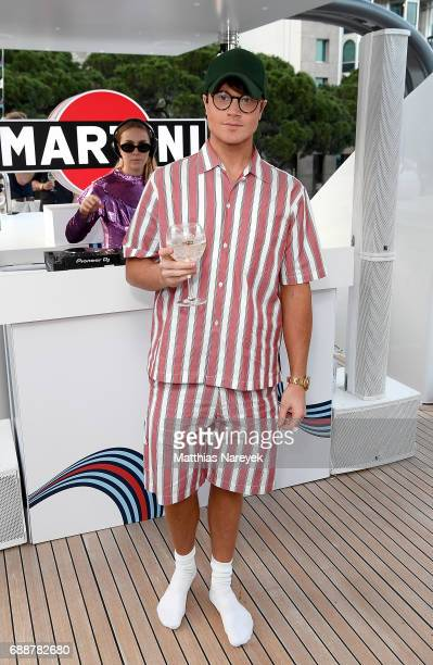 Laurie Calvert celebrates the Monaco Grand Prix at the Martini Yacht Party on May 26 2017 in Monte Carlo Monaco