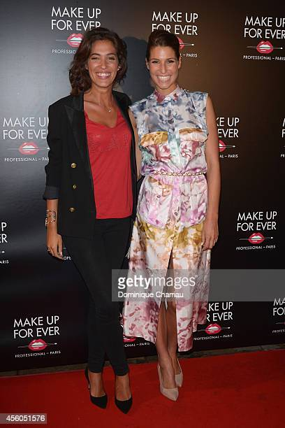 Laurie Cholewa and Laury Thilleman attends the show 'The Art Of Illusion' at Palais De Tokyo on September 24 2014 in Paris France