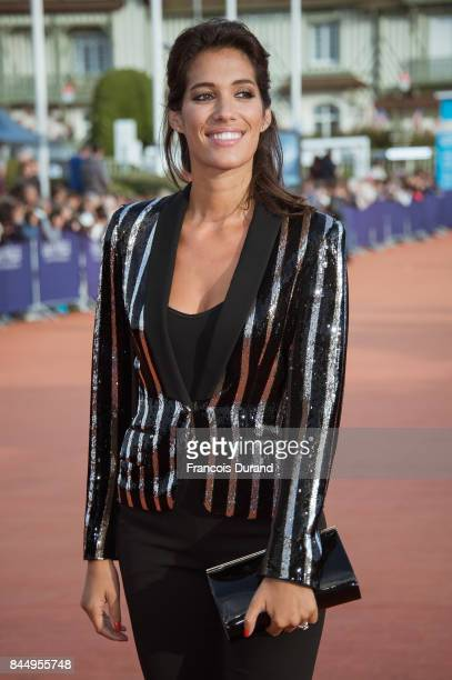 Laurie Cholewa arrives at the closing ceremony of the 43rd Deauville American Film Festival on September 9 2017 in Deauville France